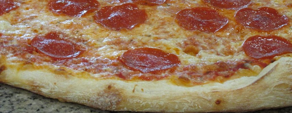 Fresh Cheese and Pepperoni Pizza